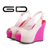 2014 summer casual shoes wedge heel TPR shoes for women