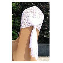 wedding lace white chair hood sashes chair cap covers for banquet party chairs
