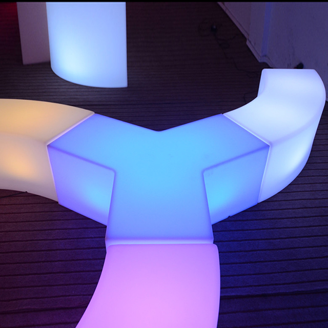 special design illuminated Yshaped stool <strong>light</strong> up plastic fancy shaped <strong>led</strong> bar stool