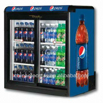 Display Fridge/upright cooler with Sliding Door