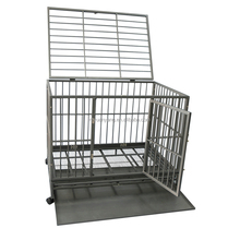Heavy duty wire folding pet crate dog cat cage