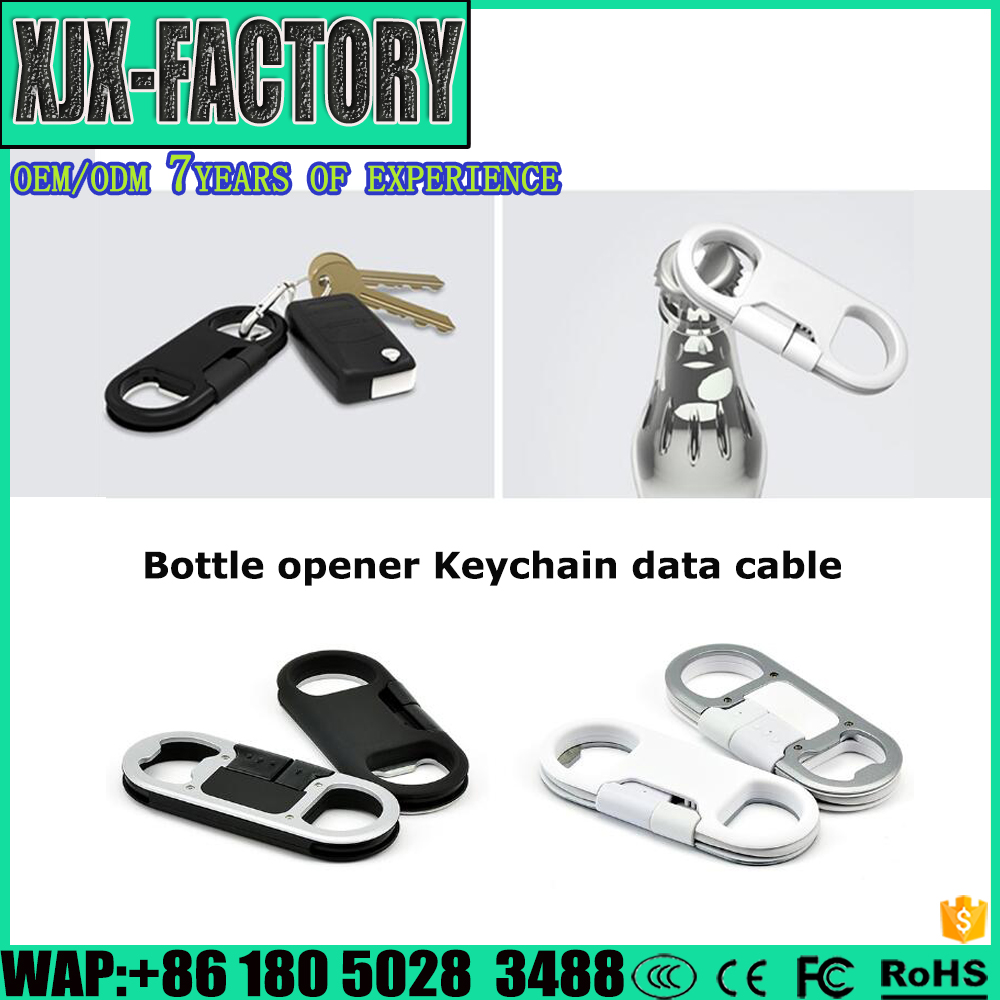 Top 3 factory!Custom Logo Printing Handmade Cheap usb data cable for Sumsung Customized gift keychain usb cable