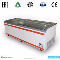 Operate Silently And Gives Off Low Heat Emissions Supermarket Display Freezer