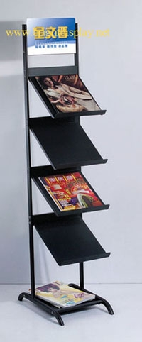 A4 brochure holder with wheels for magazine <strong>display</strong>