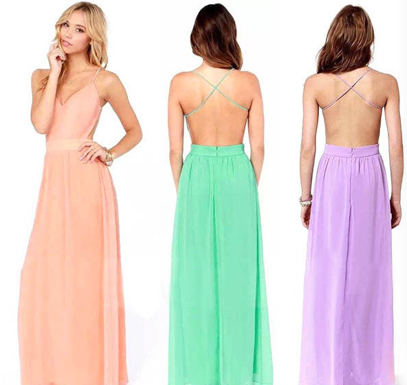 ZH0063G Women Maxi Formal Prom Dress Cocktail Party Ball Gown Evening Bridesmaid Dresses