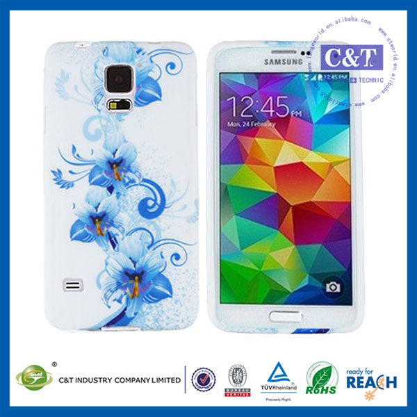 Best selling sublimation tpu+pc bumper frame case for samsung galaxy s5