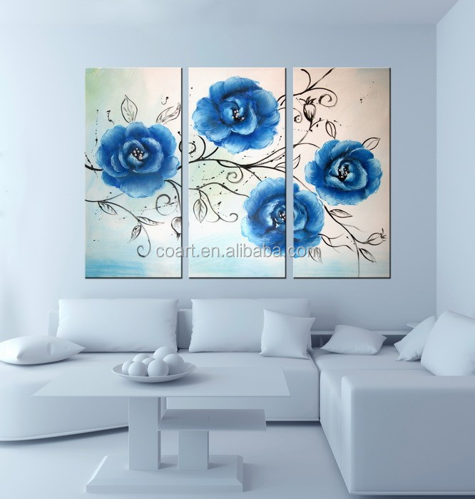 Modern Canvas Abstract Flower Painting Art Oil Painting