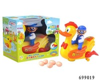 BO Musical toy chicken lays eggs flash chicken that lays eggs toy walking animal toys