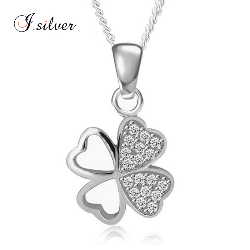 wholesale 925 sterling silver four leaf clover pendant micro pave P10005