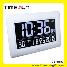 Pretty Digital Automic Monitor indoor Temperature Wall Clock For Living room Big time LED Wall Timer with High quality AV Screen