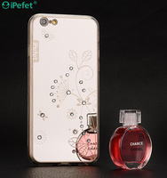 Hot selling TPU case with diamond for iPhone, TPU case with mirror