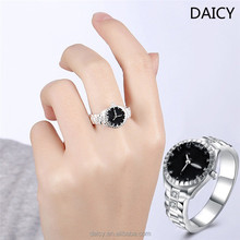 DAICY cheap price fashion women 925 silver plated clock tanishq silver jewellery ring