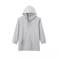 3/4 sleeve hoodie men blank custom design with wholesale price made in china