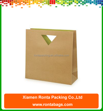 Die Cut Handle Craft Bag Cheap Brown Paper Bag Wholesale Kraft Paper Bag