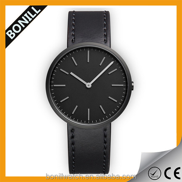 China manufacturer quality black stainless steel famous brand name classic watch oem