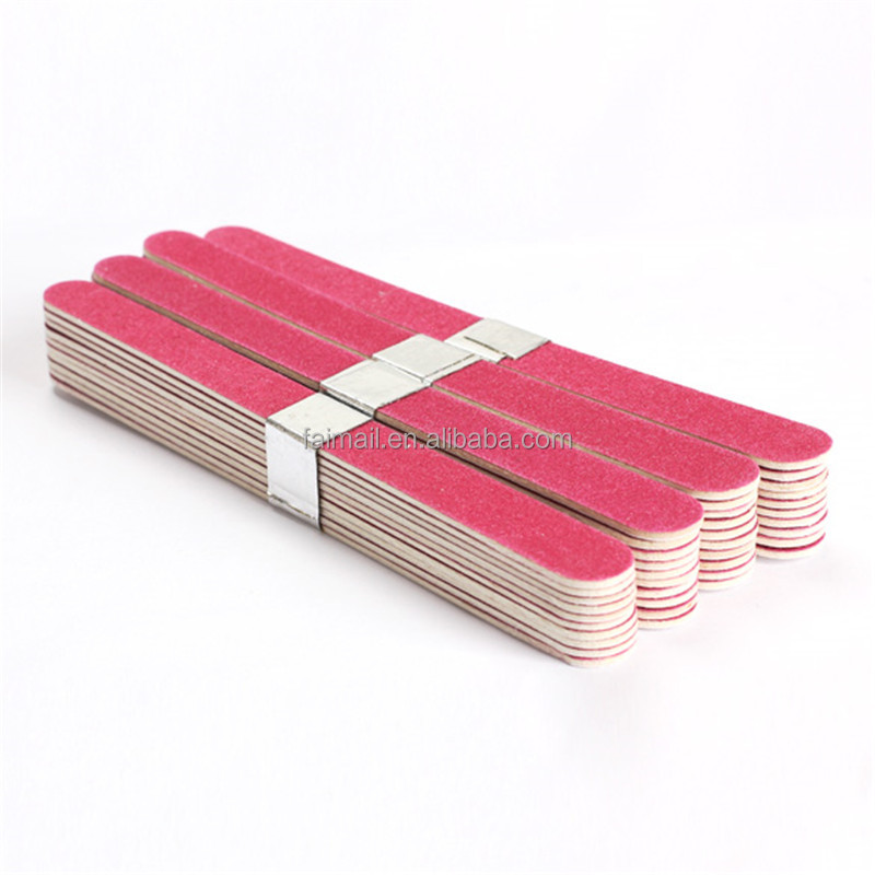 Nail File Manicure Pedicure Buffer Sanding Files Wood Crescent Sandpaper Grit Nail Art Tool