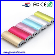Factory wholesale 5600mAh portable power bank/mobile power supply for Iphone/Ipad/Samsung