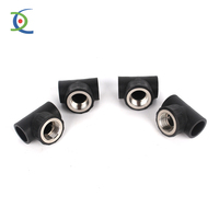 pe pipe fitting,swivel male run tee , threaded male with quick connect fitting