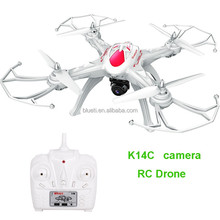 K14C 2.4GHz 6Axis UAV long control distance rc camera quadcopter drone support gopro camera