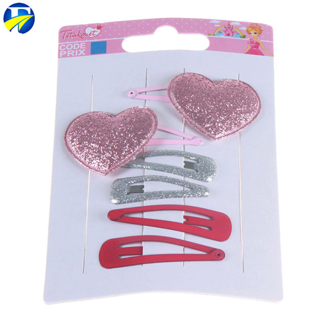 FJ brand China Manufacturer cheap fashion colorful bobby pin Metal Snap Hair Clips For Kids