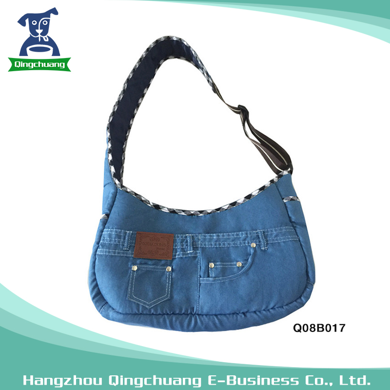 Wholesale Pet Dogs Jeans Soft Sided Dog Carrier Bag