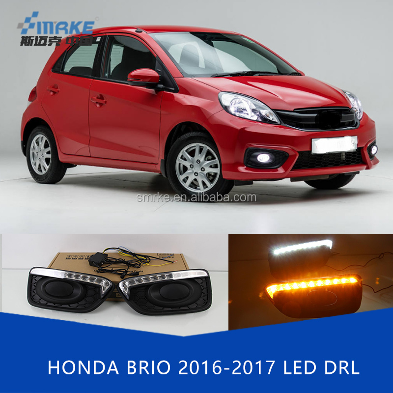 Car Styling Daytime Running Light for Honda Brio Amaze 2016 LED DRL for New Brio Fog Light Front Lamp