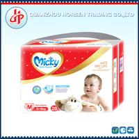 Micky brand high quality soft disposable baby diaper