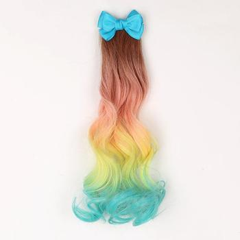 New Style Body Wave Ponytail Hair Ombre Color Clip In Hair Ponytail Beautiful Color Hair Extension Gifts For Children and Kids