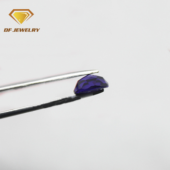 AAA cz loose violet flat bottom faceted cut round cubic zircon stone