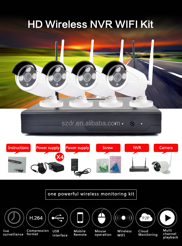 High quality ir waterproof full hd cheap cctv camera kit wireless camera connection kit security cameras wireless kit