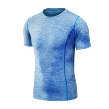 Custom Printed 100% Polyester Spandex display Muscle Fit Gym T shirt for <strong>Men</strong>