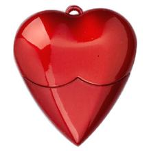 red heart shaped usb drive
