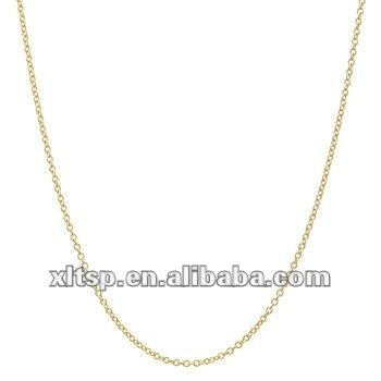 Tn122 Simple Gold Chain Necklace In Steel Or Titanium