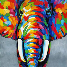 Home Decorative Handmade Modern Picture Elephant Animal Abstract Wall Art Oil Paintings On Canvas