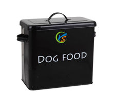 Galvanized metal Food grade storage pet food bin