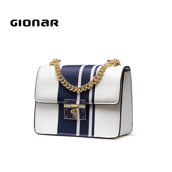 European Style Crossbody Sling Chain Leather Shoulder Bag For Women