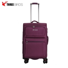 China supplier popular new design high quality polyester 3pcs decent suitcase supermarket luggage travel trolley bags 4 wheels