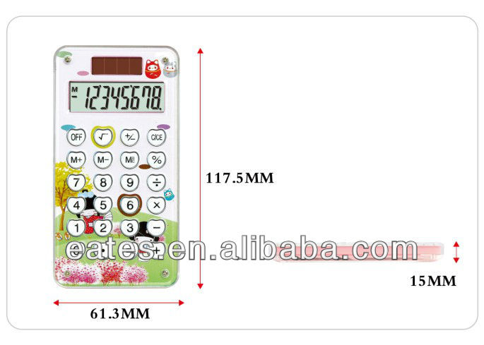 8 digits mini calculator of iphone size with maze game for gift and promotion