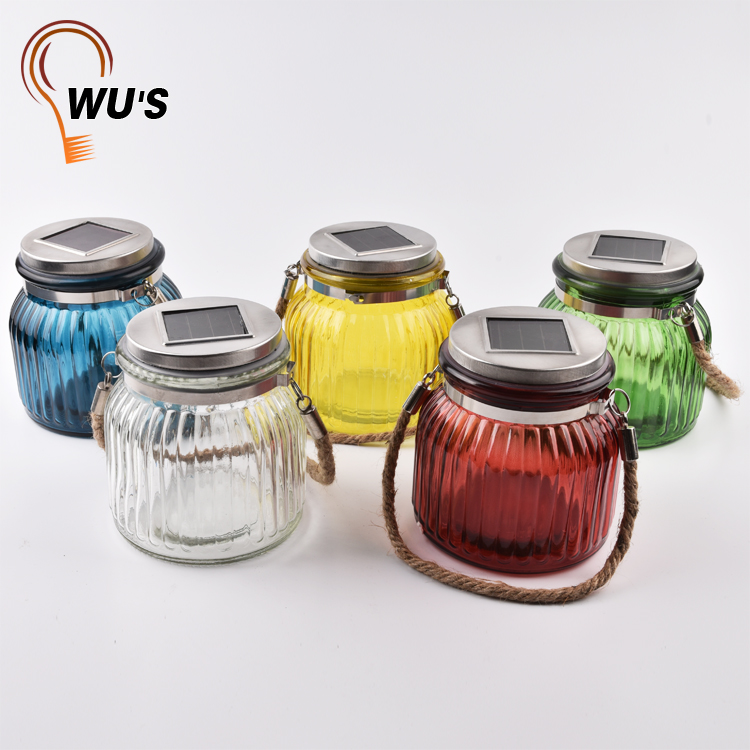 Eco-friendly Hot selling warm white light solar garden outdoor decorative jar solar glass ball light