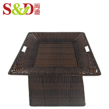 Fruit and vegetable display shelf rack supermarket stand with rattan baskets