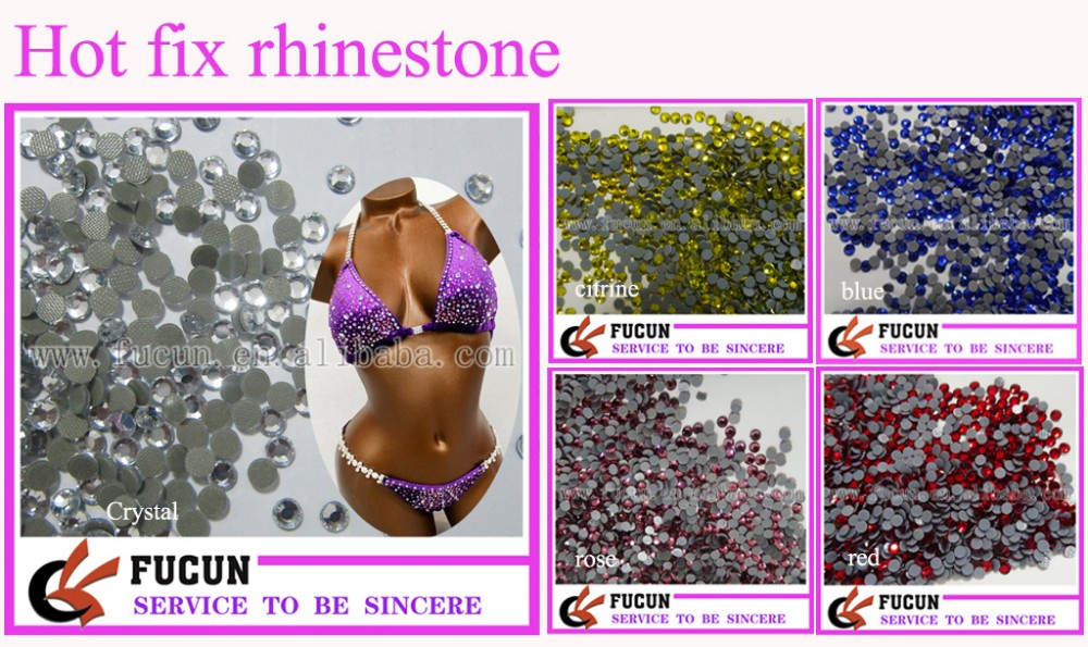 DIY Contest competition suit side pieces Rhinestone Bikini Connectors