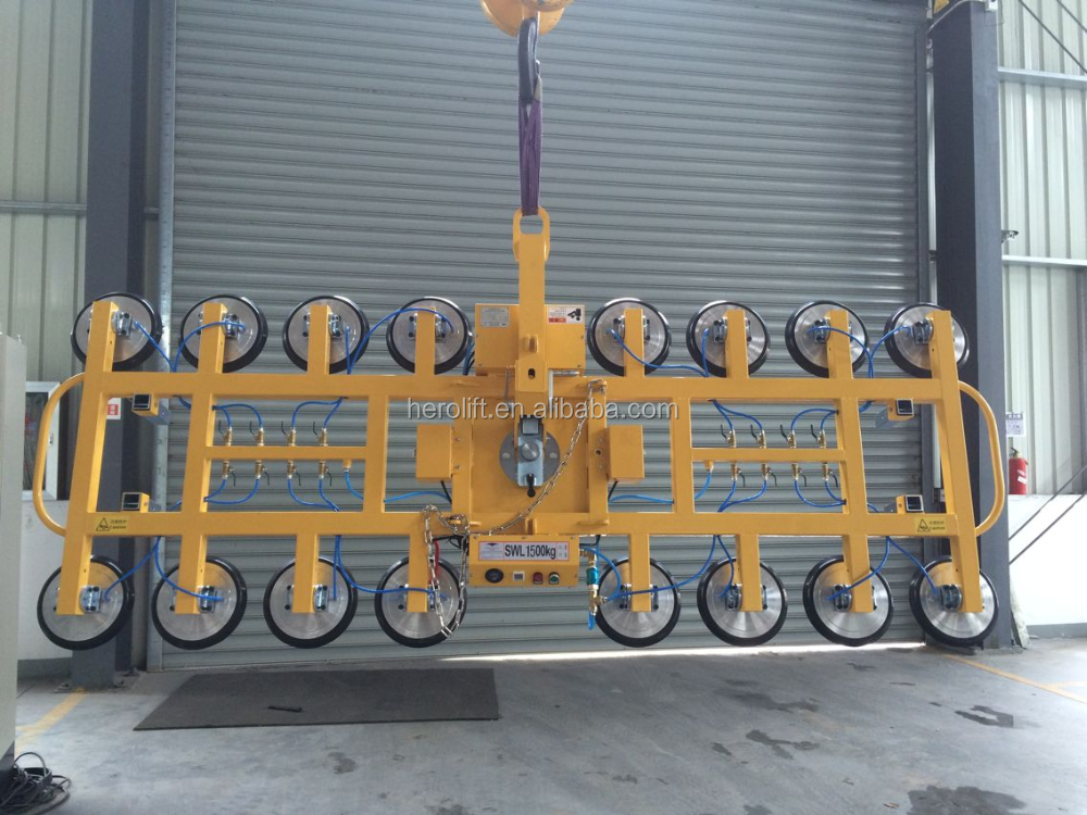12VDC battery power Capacity 1500kg Vacuum glass lifter