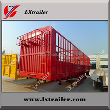 Three axles livestock fence semi trailer for horse carrier on sale
