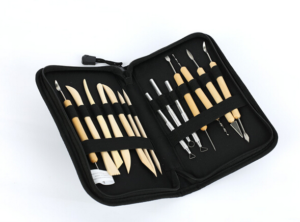 14Pcs Wooden Metal Pottery Sculpture Molding Carving Professional Clay Tool Kit