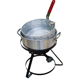Portable outdoor propane 10QT fish fryer