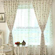 rustic birds printed sheer curtain voile fabric