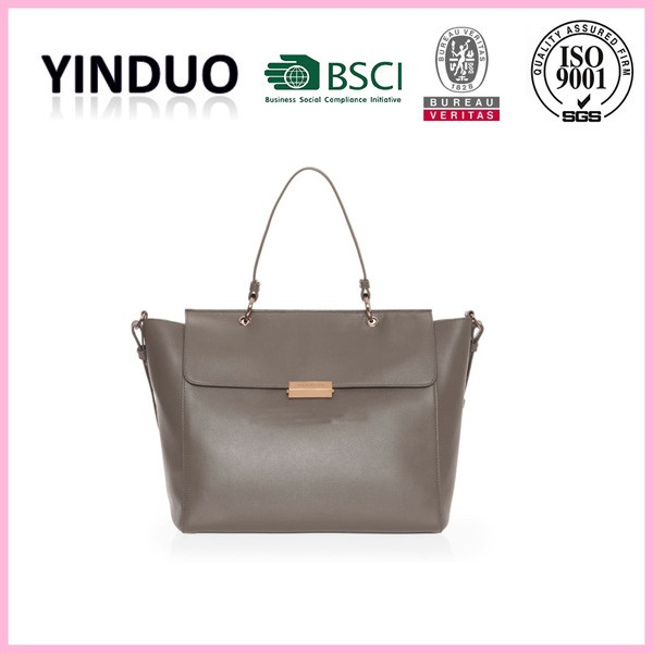 Brand high quality women genuine leather fancy office vegan hand bags girls original design italian full grain pure leather bags