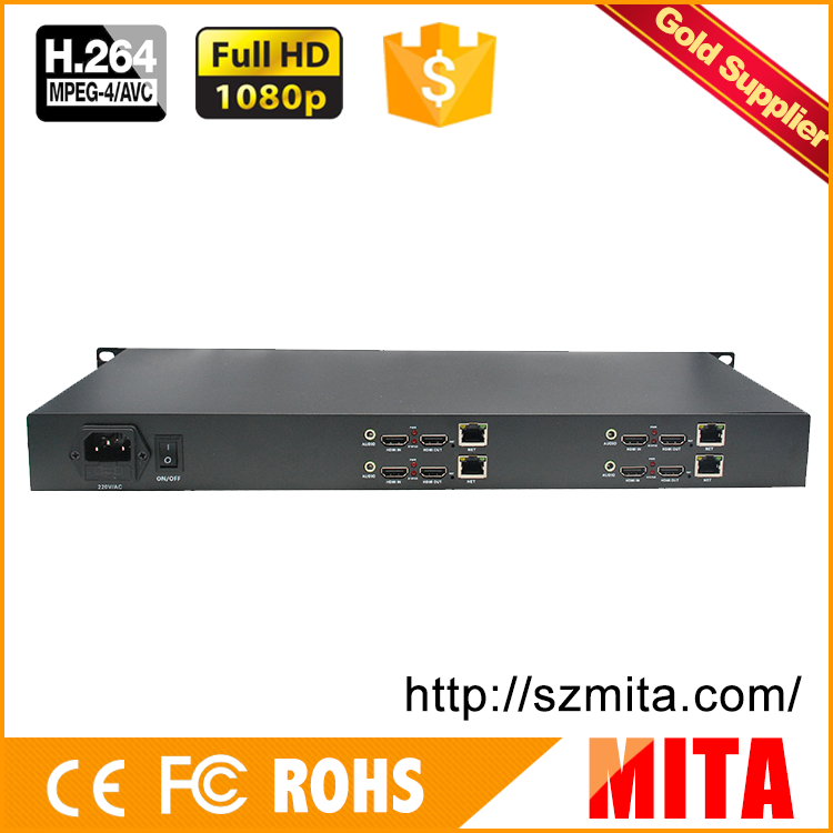 HD h.264 4 channels hdmi capture hardware encoder with UDP TCP