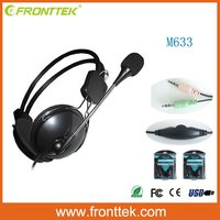 Hot selling color can customized best sound referee communicator headset for computer/laptop