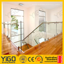 Modern outdoor deck glass railing with great price